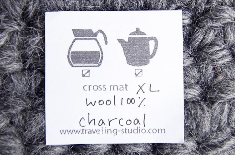 HasataniFumiyo_WoolCrossMatXL_Charcoal